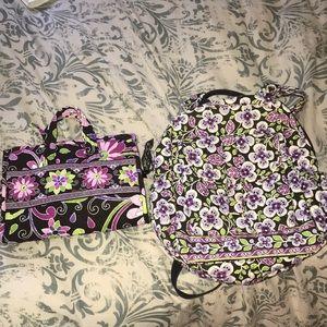 Vera Bradley - backpack and makeup holder